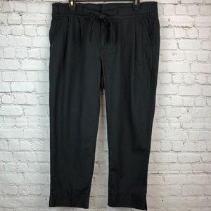 GAP Paperbag Tie Waist Black Pleated Pants 10R